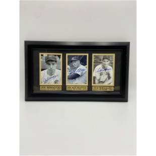 Rare Autographed MLB Legends Mantle, DiMaggio & William