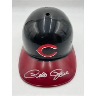 PETE ROSE Autographed Batting Helmet Cincinnati Reds