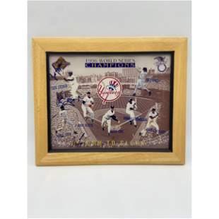 1996 New York Yankees WS Champion Photo Signed Multiple