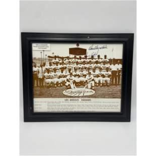 Vintage 1965 LA Dodgers Team Photo Signed By Sandy Kouf
