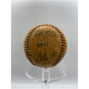 Signed 1984 Texas Rangers Team Baseball Multiple Signat