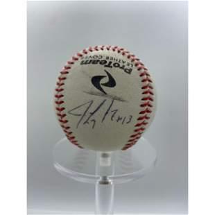 Vintage Jim Leyritz New York Yankees Signed Baseball