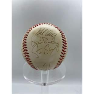 Vintage 1989 New York Yankees Team Signed Baseball