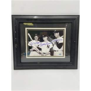 Mickey Mantle, Joe Dimaggio & Ted Williams Autographed