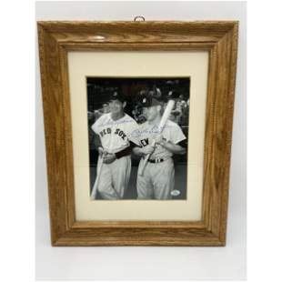 Vintage Ted Williams & Mickey Mantle Autographed Photo