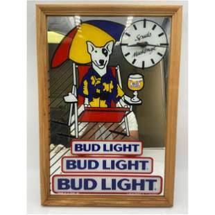 Vintage Spuds Mackenzie Bud Light Beer Clock