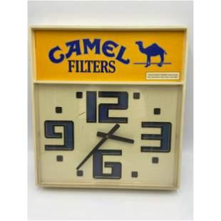 VINTAGE 1985 CAMEL CIGARETTE ADVERTISING CLOCK
