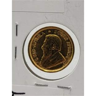 1/10 OZT Gold Coin South African Rand 1982 MINT