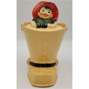 RARE Shawnee Pottery Experimental Cookie Jar.