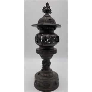 Antique Japanese Bronze Lantern 19th Century