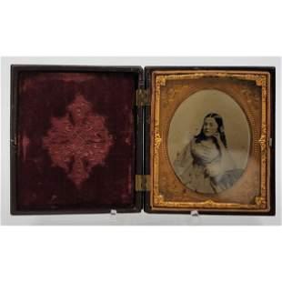 Civil War Era Daguerreotype Case w/ Ambrotype Picture