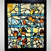Antique Tiffany Studios Leaded Stain Glass Window 1900