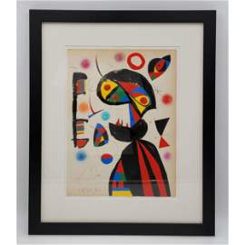 Abstract Watercolor Painting Signed Miro 62