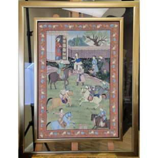 19th Century Indo Persia Watercolor Painting