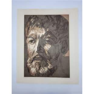 Dean Meeker Self Portrait Signed Lithograph 55/60