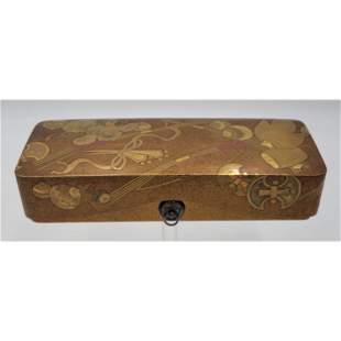 Fine quality Japanese Box Signed Kajikawa Saku Edo Pd.