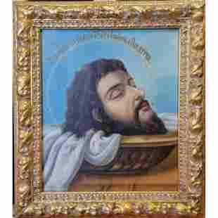 A Very Fine Antique Russian Icon John The Baptist
