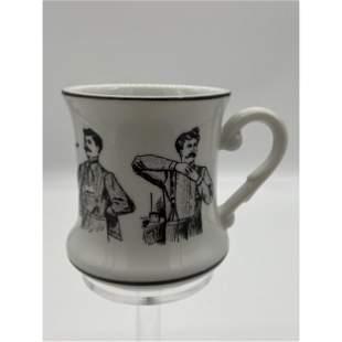 Mid-Century Japanese Porcelain Mustache Mug