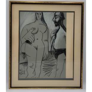 Pablo Picasso Lithograph Stone With COA