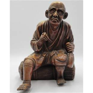 A Very Fine Antique Japanese Porcelain Sculpture Signed