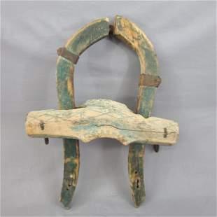 Antique Primitive Horse Mule Wooden Yolk