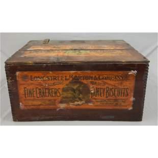 Antique Primitive Advertising Box Longstreet, Morton &