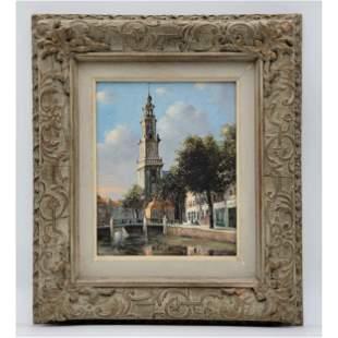 Jacobus Lambertus Dispo Sr O/C Painting Signed