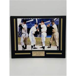 MLB IMMORTALS SIGNED SNIDER,MANTLE,DiMAGGIO AND MAYS