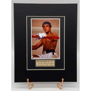 Muhammad Ali Autographed Photo w/ COA