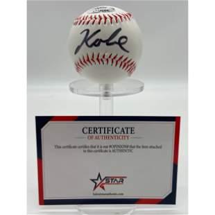 Kobe Bryant Signed Baseball w/ COA