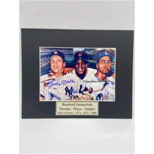 MLB Baseball Immortals Autographed Photo w/ COA