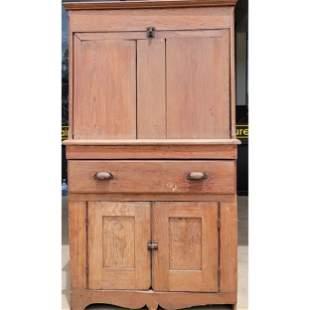 Early Antique Primitive Pine Sugar Desk