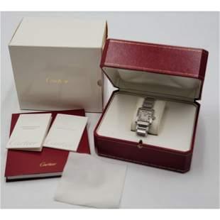 Cartier TANK Francaise Watch Original Box SN# 107633CD
