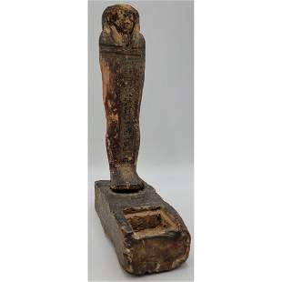 An Early Antique Egyptian Carved Wood Figure