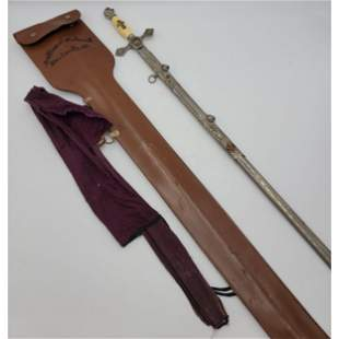 Sword And Leather Case Knights Templar Masonic