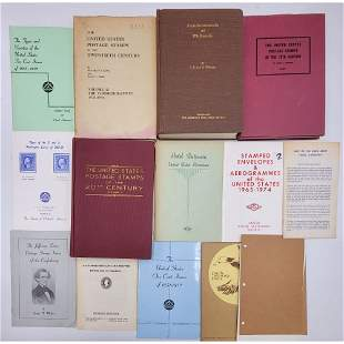 A Grouping Of Vintage / Antique Stamp Reference Materi