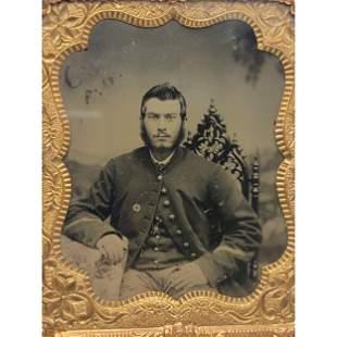 A Fine Civil War Ambrotype Photograph Union Soldier