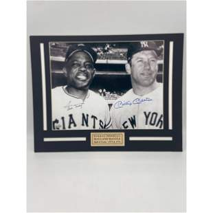 MLB LEGENDS MICKEY MANTLE AND WILLIE MAYS SIGNED PHOTO