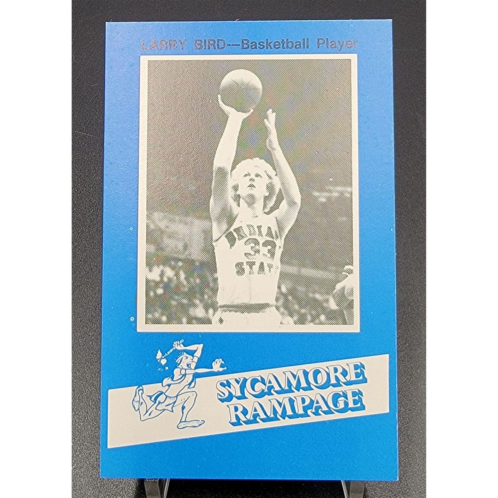 RARE Larry Bird Basketball Card -College SYCAMORE RAMPG
