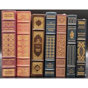 Books- 7 Fully Tooled & Gilt Leather Franklin Library