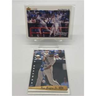 Lot Of 2 Vintage Ken Griffey Jr Upper Deck Cards 1991 &