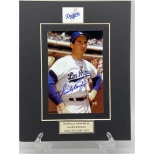 Sandy Koufax LA Dodgers Signed Photo w/ COA