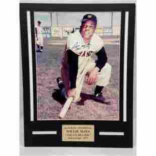 Vintage MLB Willie Mays Signed Photo W/ COA