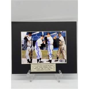 Vintage MLB Legends Signed Photo Mantle, Dimaggio, Mays