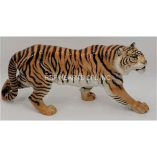 A FIne Hutschenreuther Porcelain Tiger Sculpture