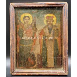 19th Century Religious Icon In Period Shadow Box