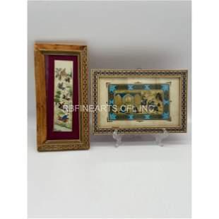 Lot Of 2 Persian Mini Plaques Paintings