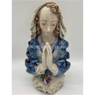 Cordey Porcelain Bust Figure Of A Lady