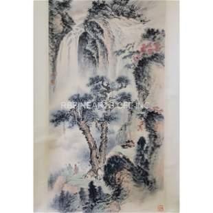 Chinese Ink & Watercolor Attr. Fu Baoshi Huang Junbi