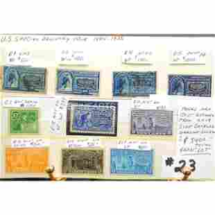 Rare Grouping Of Antique Stamps